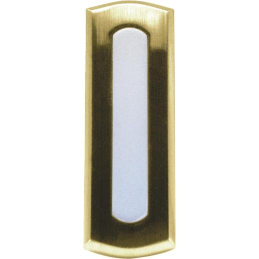 IQ America Wireless Polished Brass Colonial Doorbell Push-Button