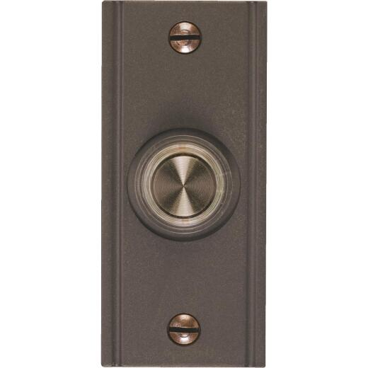 IQ America Wired Oil Rubbed Bronze Brass Lighted Doorbell Push-Button